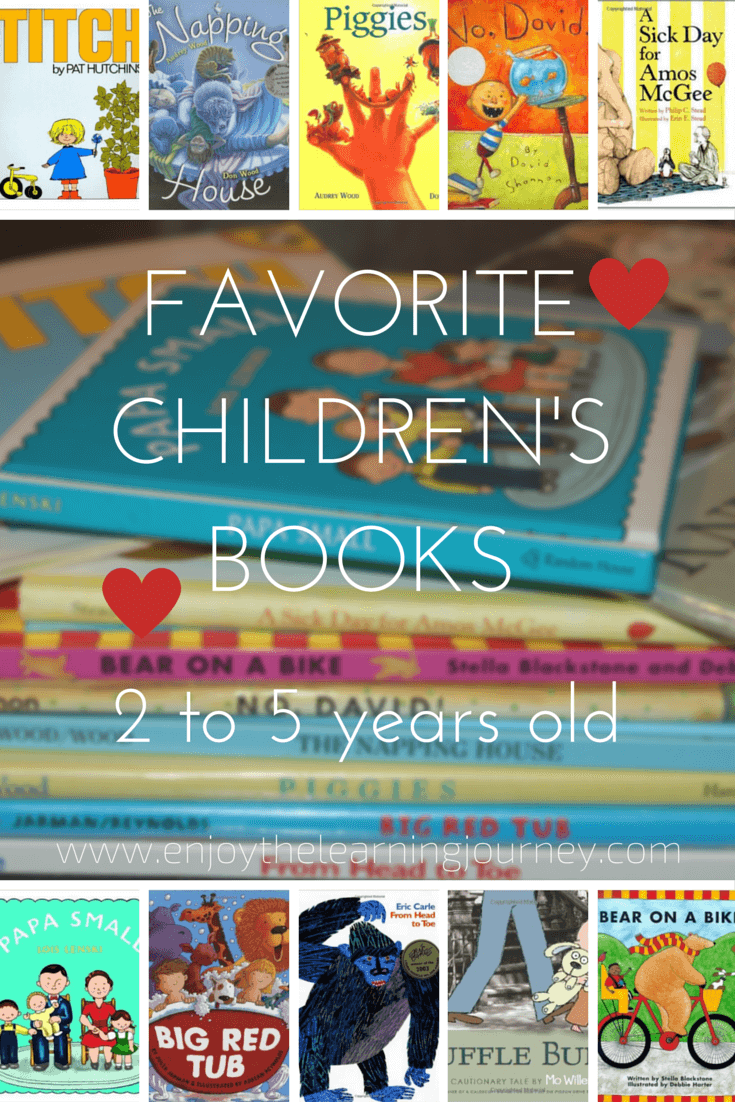 Favorite Children's Books for 2 to 5 years old