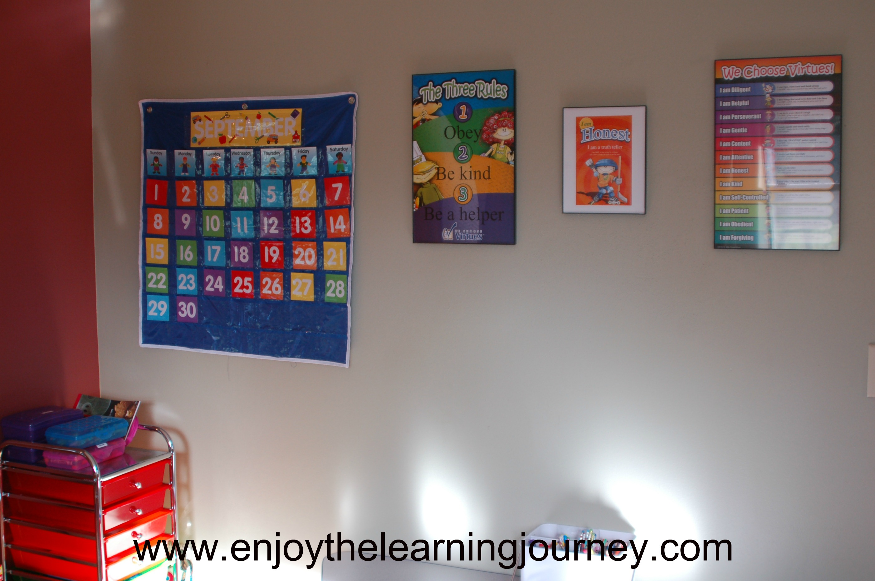Our Homeschool Schoolroom 2013-2014