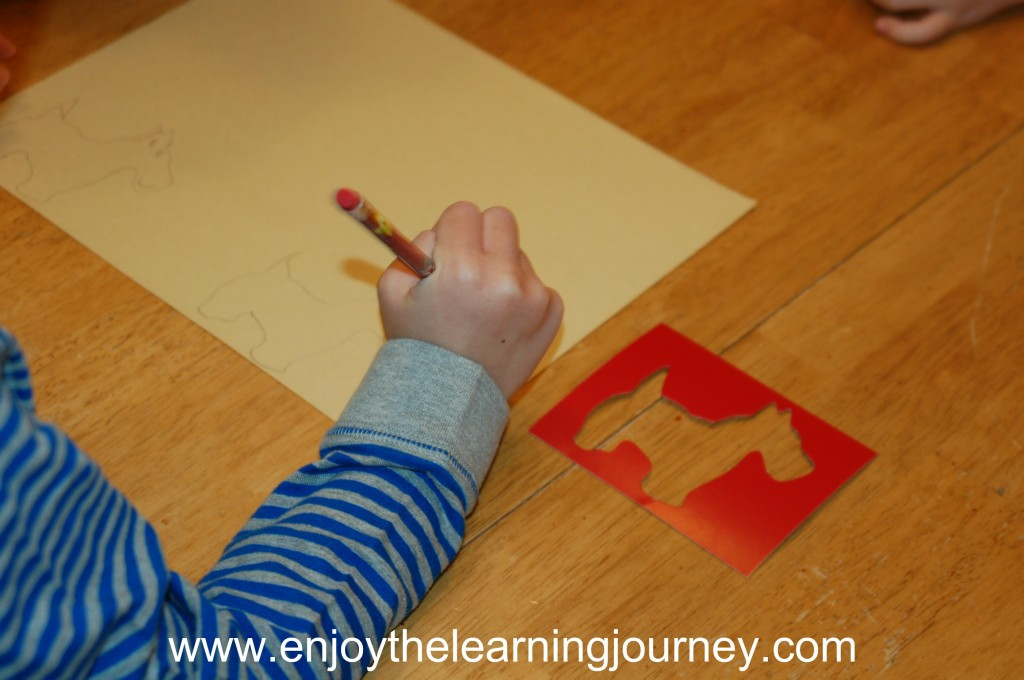 D is for Dog - Stenciling