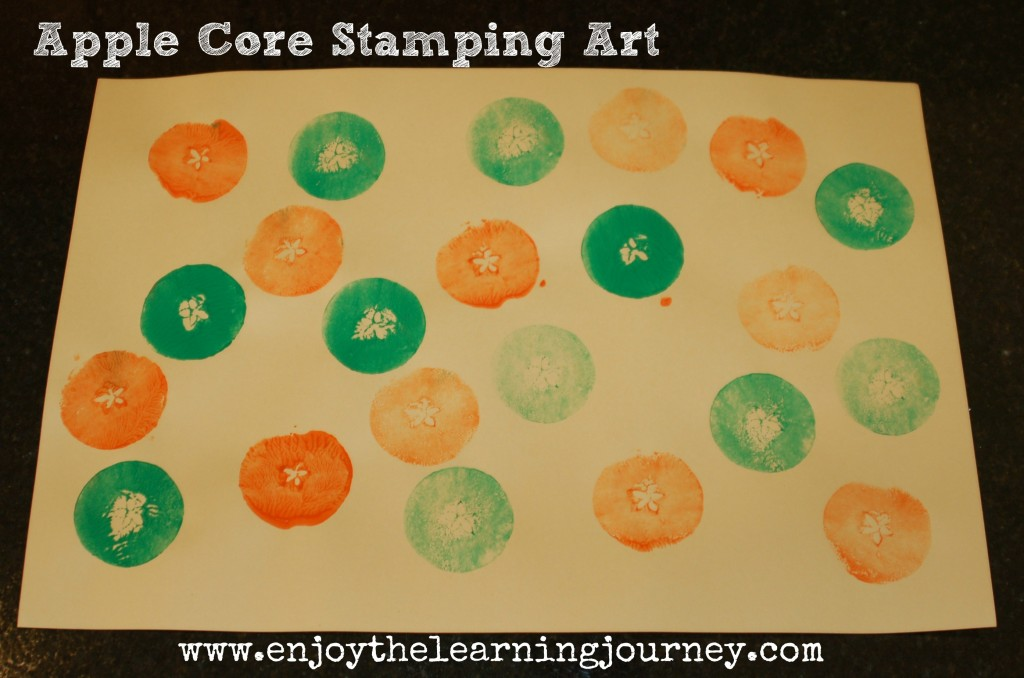 Apple Core Stamping Art for Kids