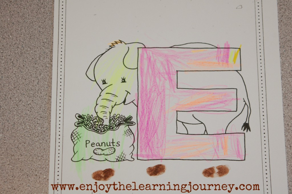 E is for Elephant - Letter of the Week
