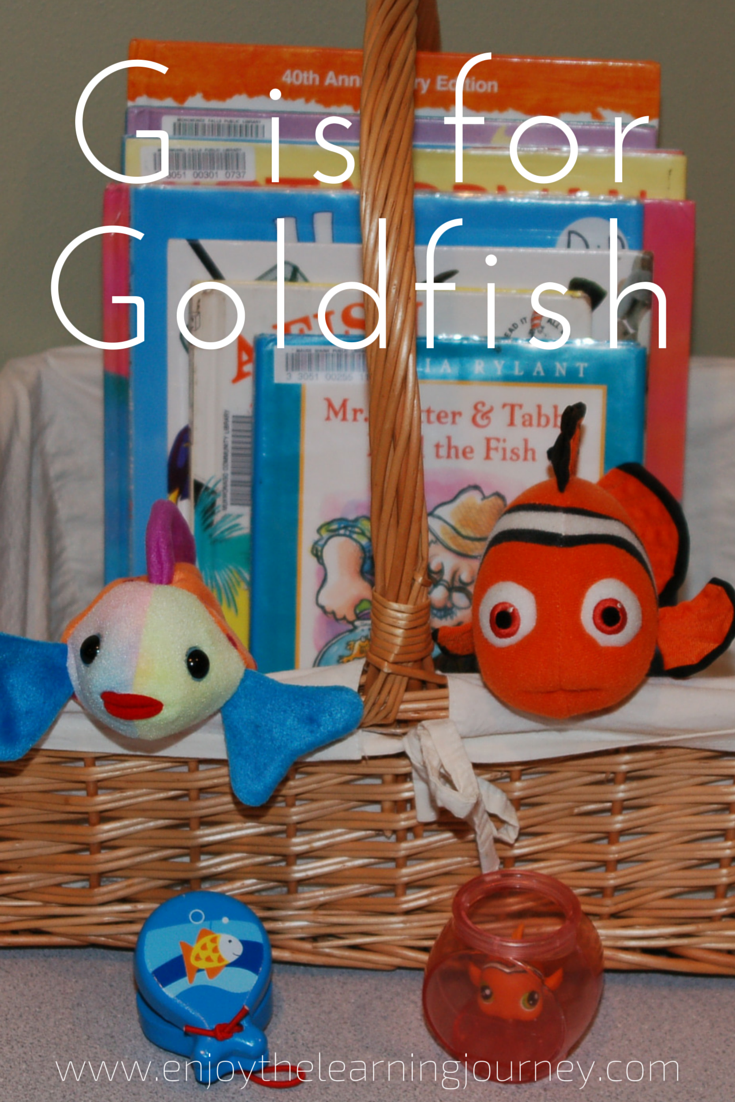 G is for Goldfish Letter of the Week for Preschoolers