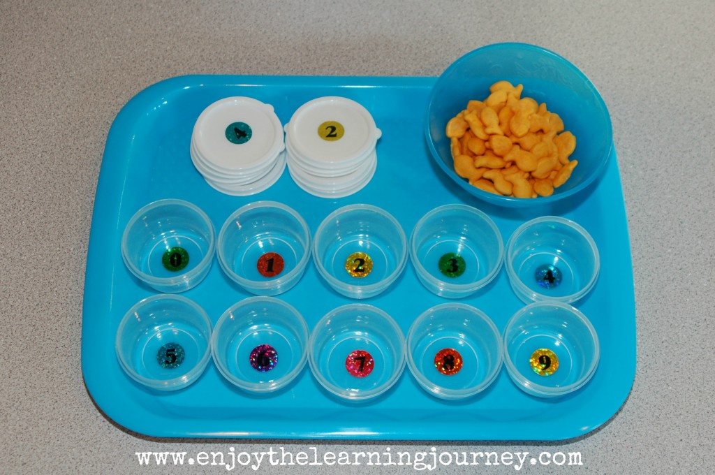 Goldfish Cracker Counting & Matching Activity
