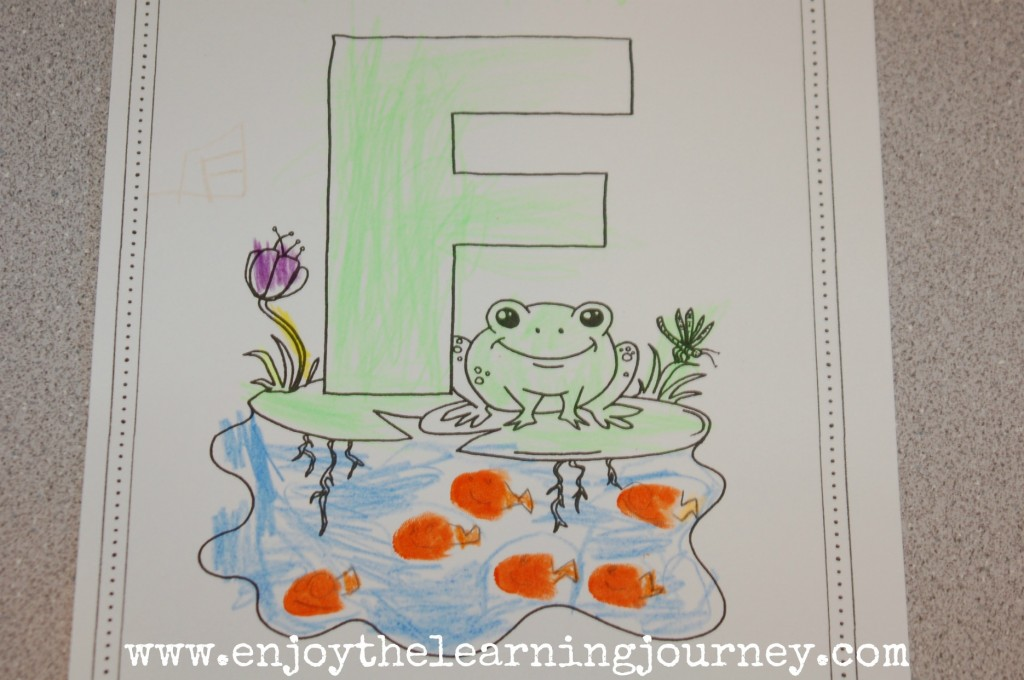 F is for Frog - Letter of the Week for Preschoolers