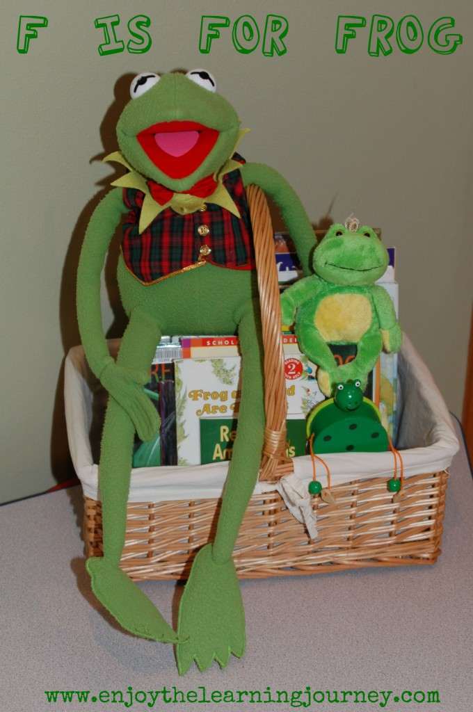 F is for Frog.  Letter of the Week for Preschoolers.