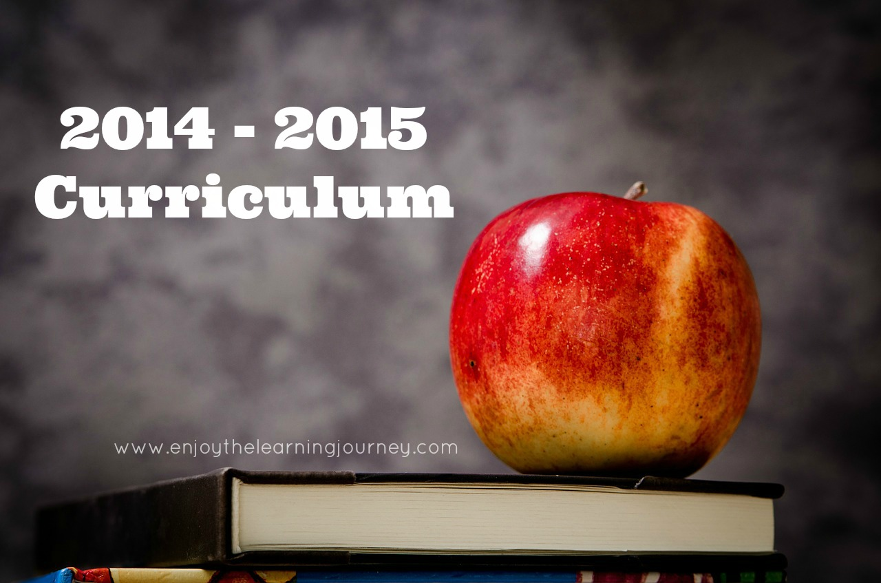 2014-2015 Curriculum Choices for Homeschooling