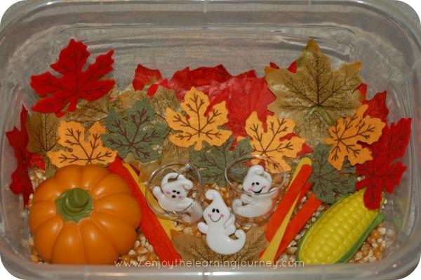 Autumn Sensory Bin for Preschoolers - explore, sense, discover - perfect for kids this fall season!
