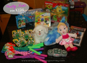 Thrifty Finds for Kids – New Toys, Operation Christmas Goodies and More Stuff We Don't Need