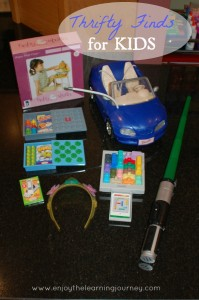 Thrifty Finds for Kids – a Lightsaber, a Barbie Car, Games and More