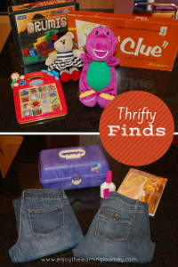 Thrifty Finds – Vintage Caboodles, Starbucks Bearista Bear, Vintage Clue, Barney & More