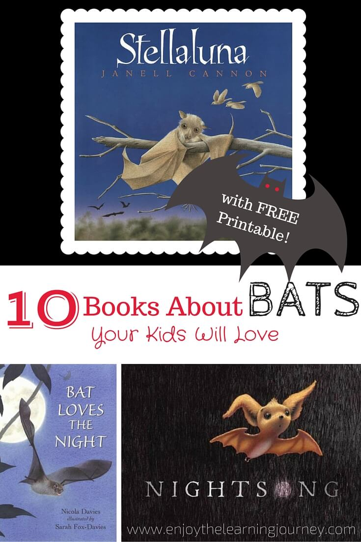 10 Children's Books About Bats with FREE Printable