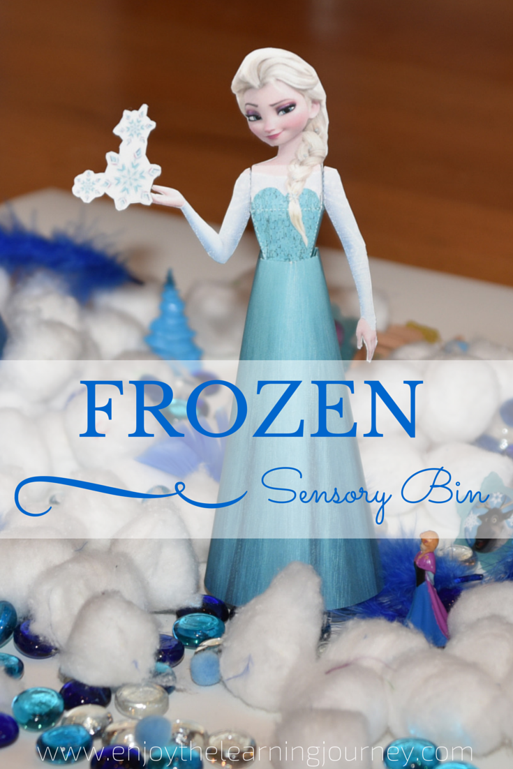 FROZEN Sensory Bin for Preschoolers