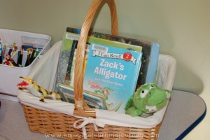 A is for Alligator Reading Basket
