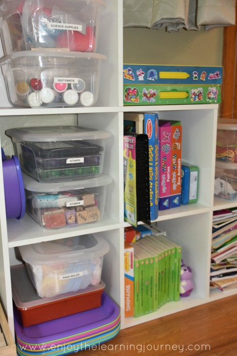 Optimize your homeschool for your preschooler or kindergartner by adding these seven items to your homeschool space!