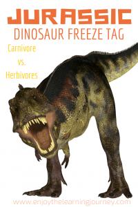 Jurassic Dinosaur Freeze Tag