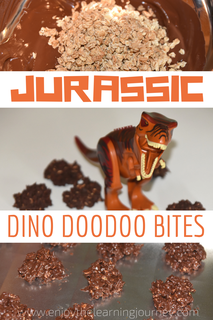 Jurassic Dino Doodoo Bites - These dinosaur cookies are a chocolatey treat that little Jurassic World and dinosaur fans will love. They're great for kid's dino birthday parties too!