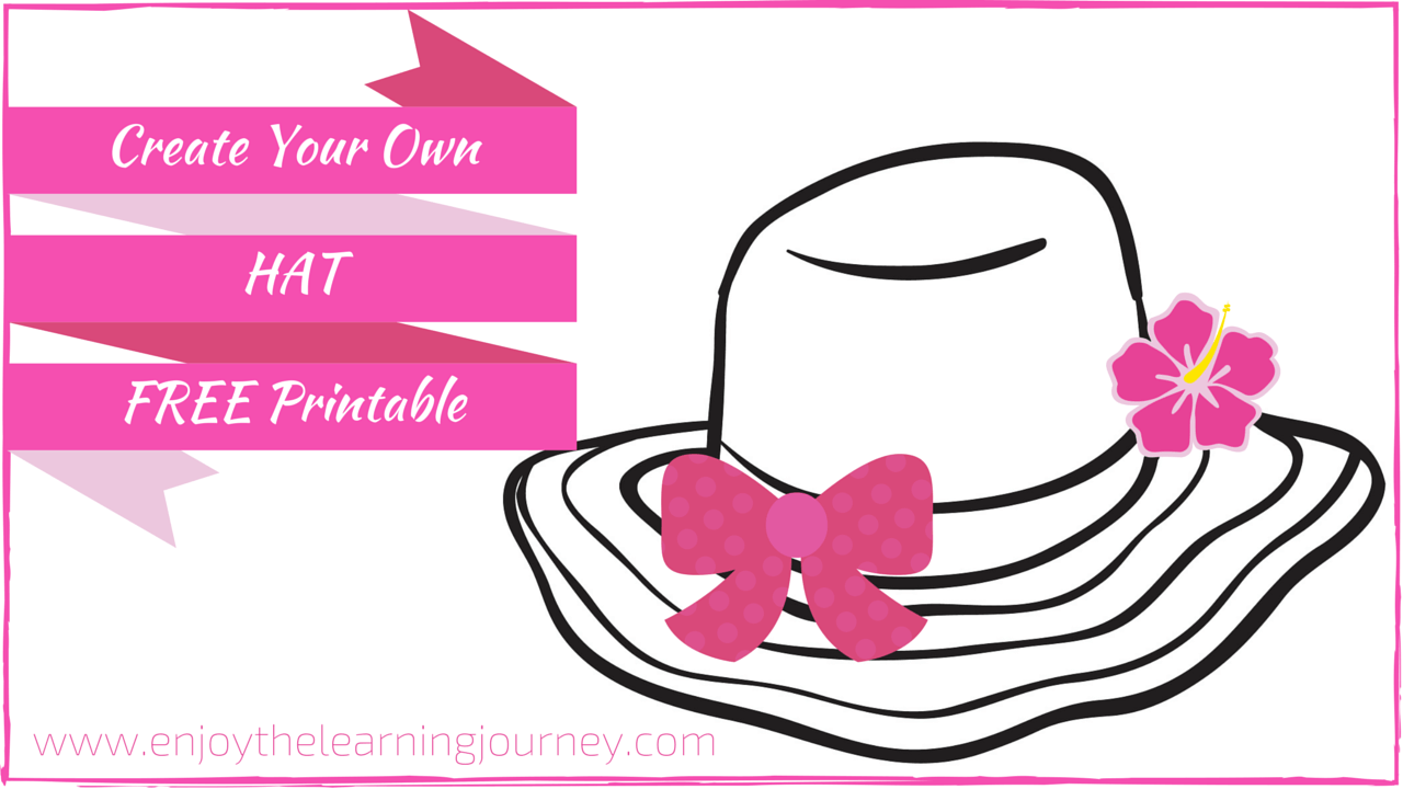 Create Your Own Hat FREE Printable-Girl