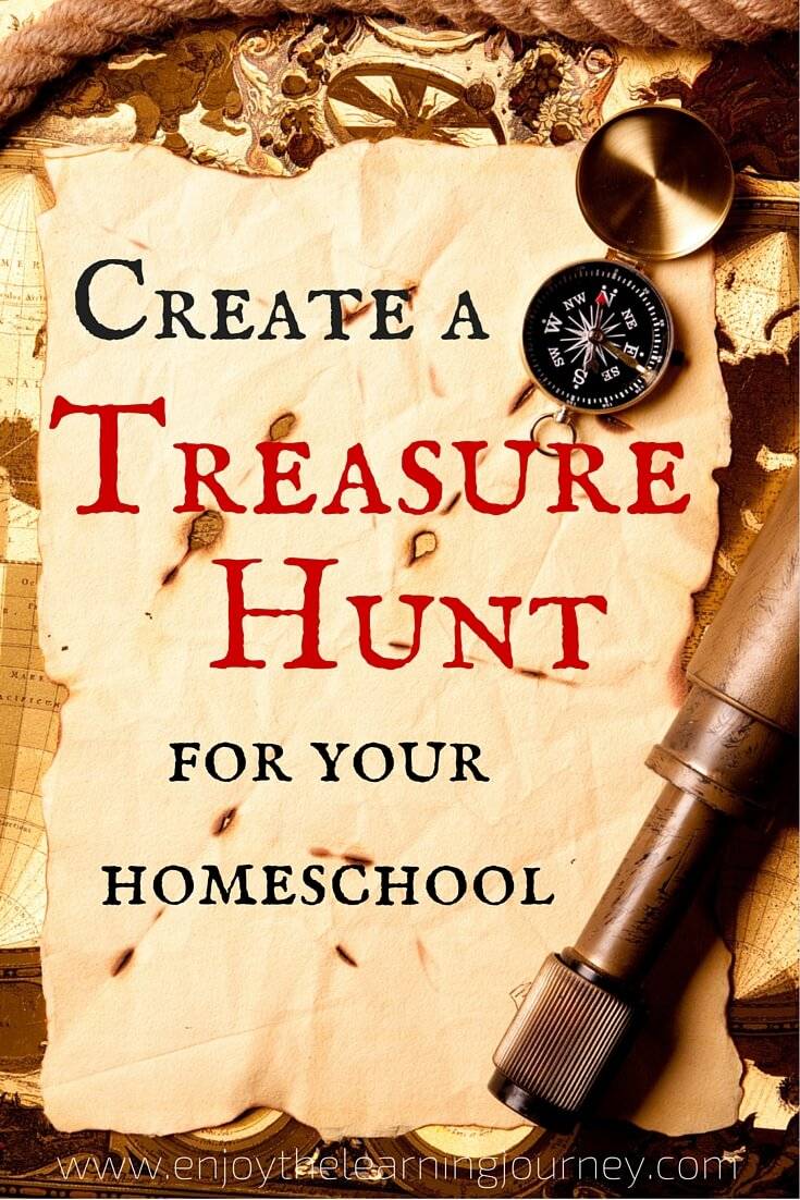 Delight your students and liven up your homeschool with a treasure hunt! This idea can be used for back-to-homeschool, holidays, birthdays or just for fun!