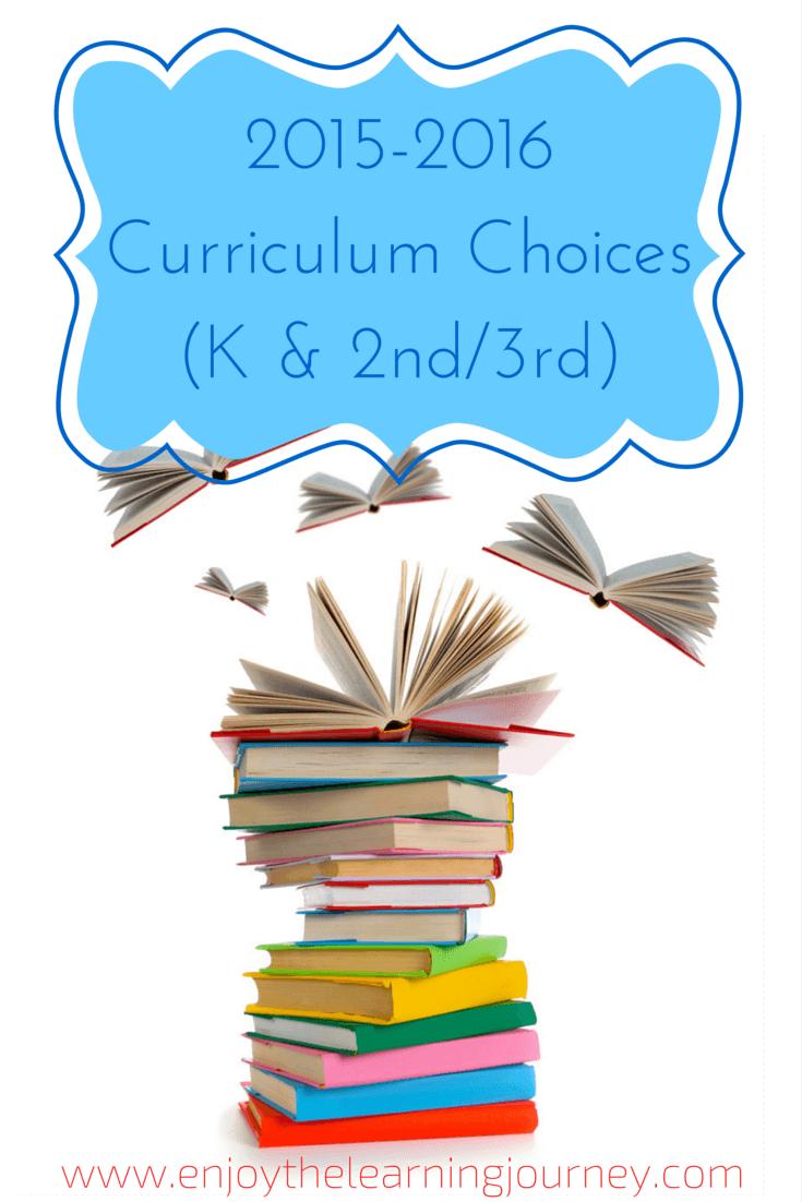 Homeschool 2015-2016 Curriculum Choices (2nd Grade & Kindergarten)