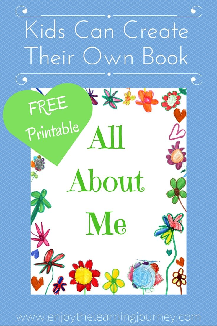 Unforgettable image regarding all about me printable book