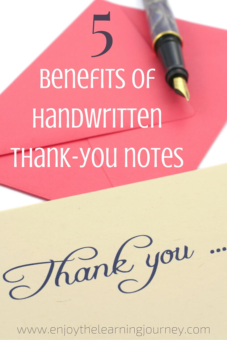 5 Benefits of Handwritten Thank-You Notes
