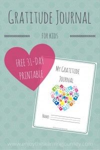 Let's Choose to Be Grateful!  FREE Printable 31-Day Gratitude Journal for Kids