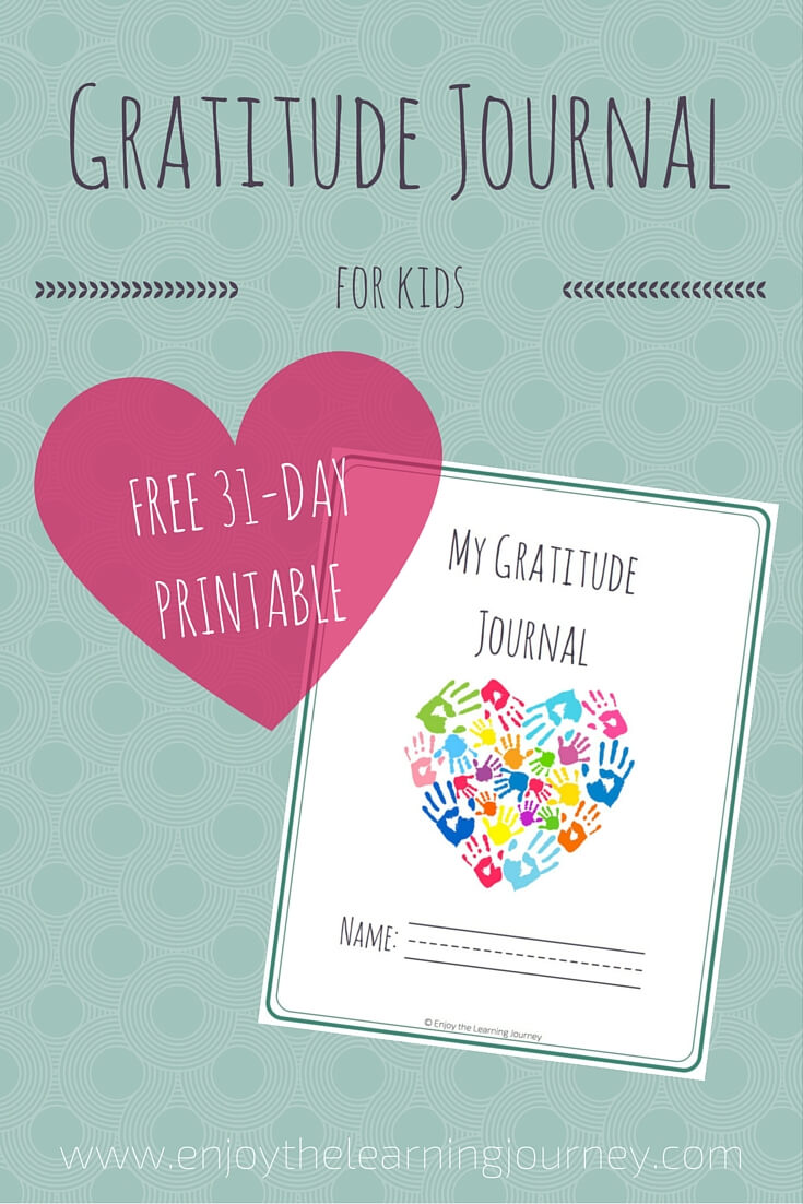 It is a picture of Nerdy Gratitude Journal Printable