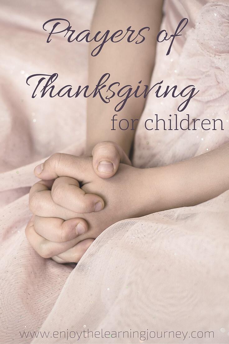 Prayers of Thanksgiving for Children