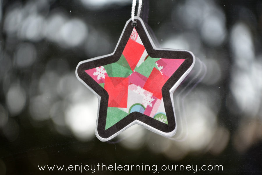 Christmas star paper craft