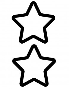 Two large stars outlined in black