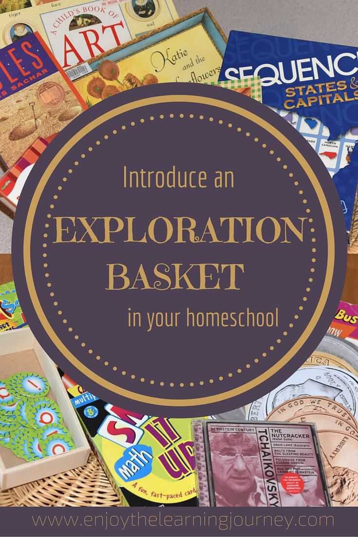 Make learning exciting and fun for your child! Introduce an exploration basket in your homeschool to spark your child's interest in books, games and other learning materials.