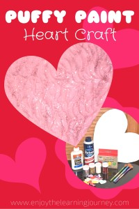 Puffy Paint Heart Craft