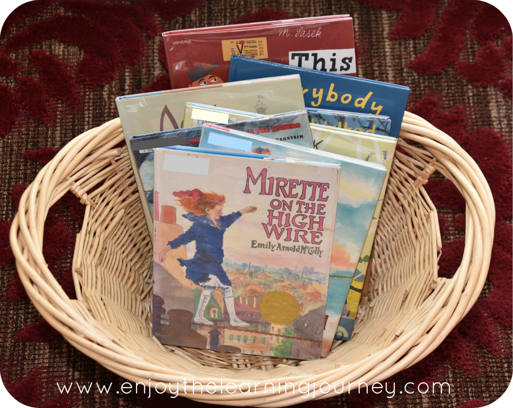 Together with your children, explore the high wire, balance, determination, and Paris, France with Mirette on the High Wire and this Five in a Row homeschool unit study {FIAR Volume 2}.