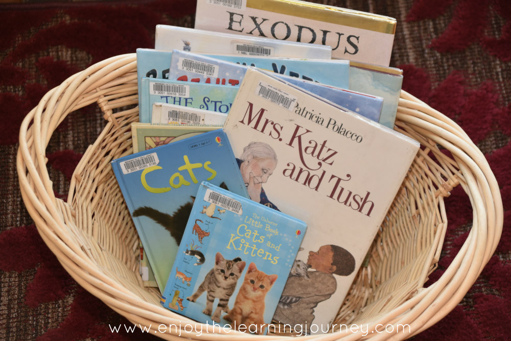 Mrs. Katz and Tush is a lovely book Five in a Row {FIAR} book. Explore Jewish traditions, immigration, Yiddish and cats for a rich homeschool unit study. Free printable book list.