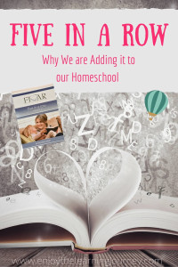Why We Are Adding Five in a Row to Our Homeschool