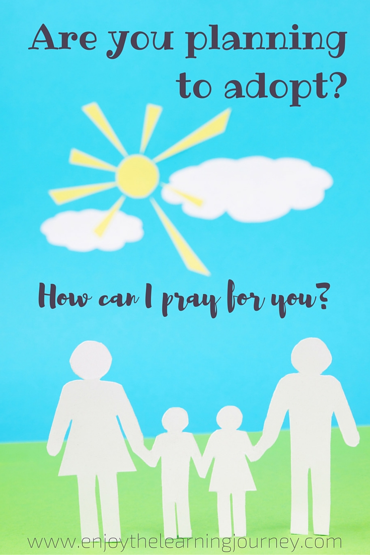 Have you adopted? Are you planning to adopt? How can I pray for you?