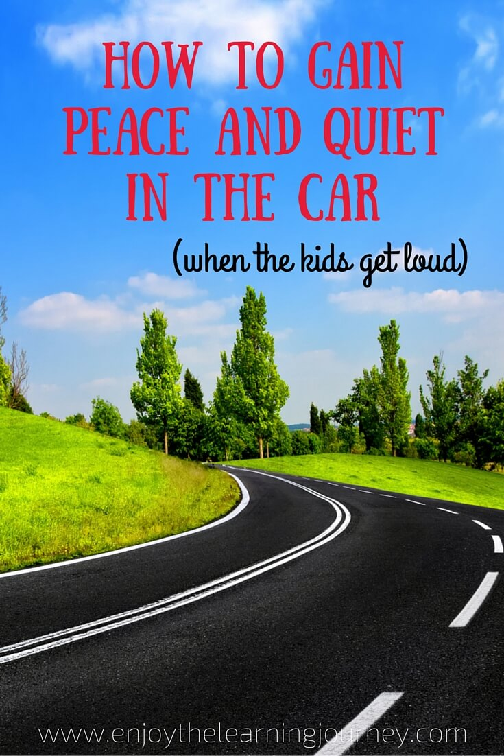Are you eager to find a way to gain quiet in the car when your kids are overly loud? Here is a simple method that has worked for us and brought peace back to our driving time.
