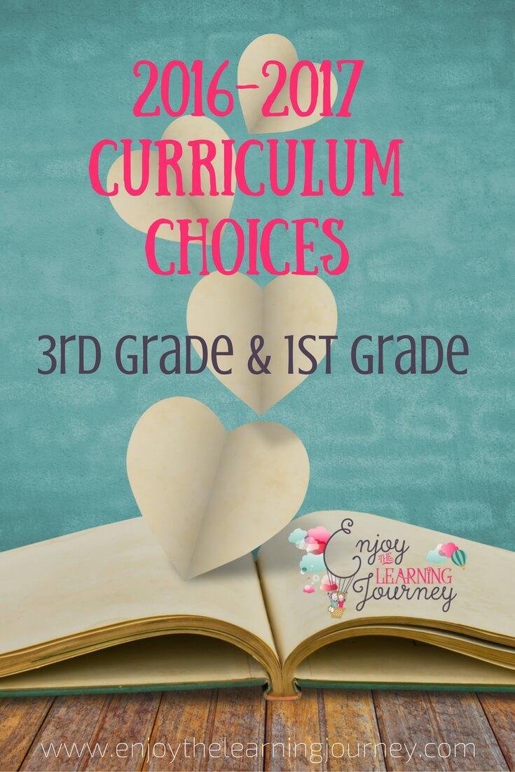 2016-2017 Curriculum Choices