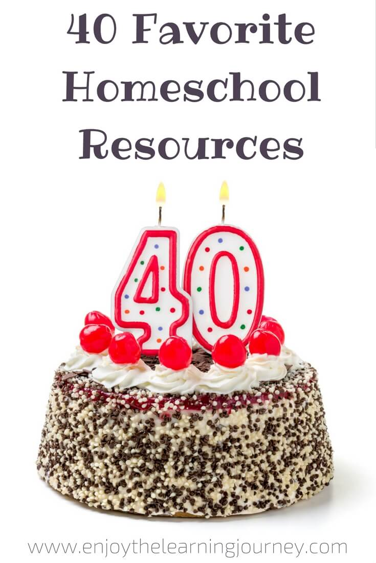 Here are 40 Homeschool Resources I couldn't live without. Want to find out what they are?
