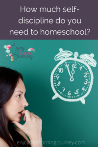 Are you thinking about homeschooling but not sure you have enough self-discipline to do it? You might have more than you think.