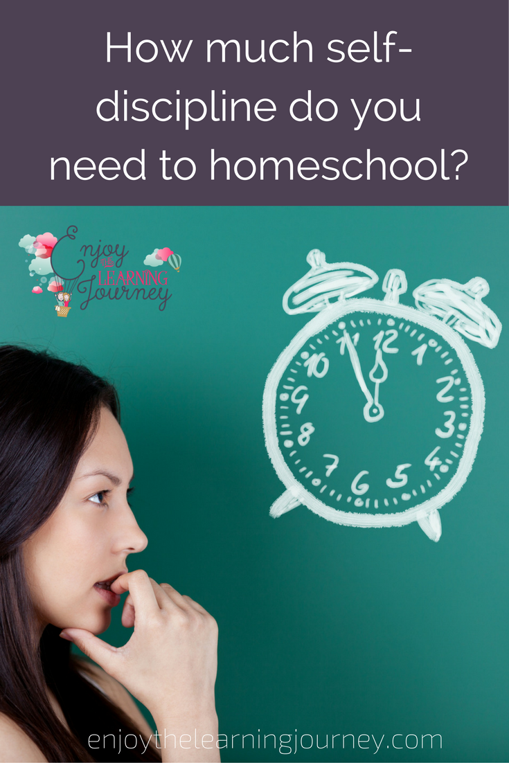 Do you need a lot of self-discipline to homeschool?