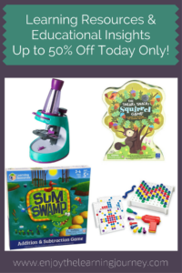 Up to 50% Off Educational Insights & Learning Resources ~ TODAY ONLY
