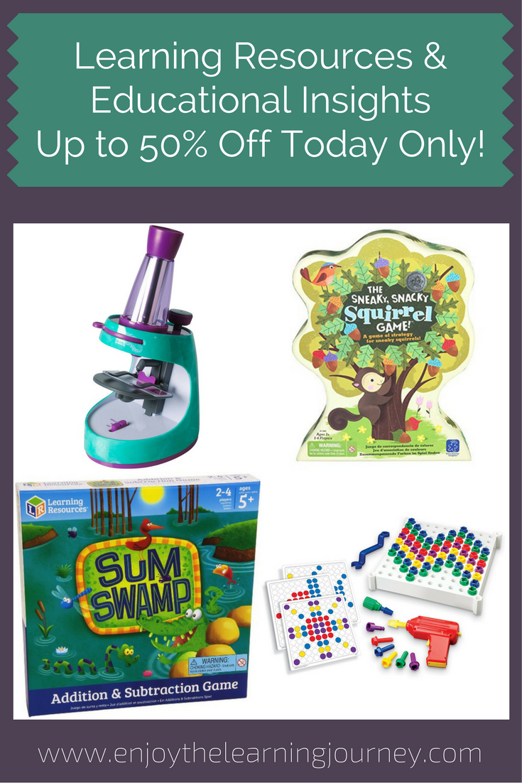 50% Off Learning Resources and Educational Insights Today Only
