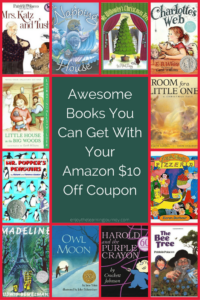 Check out these awesome book suggestions and take advantage of the Amazon $10 off coupon!
