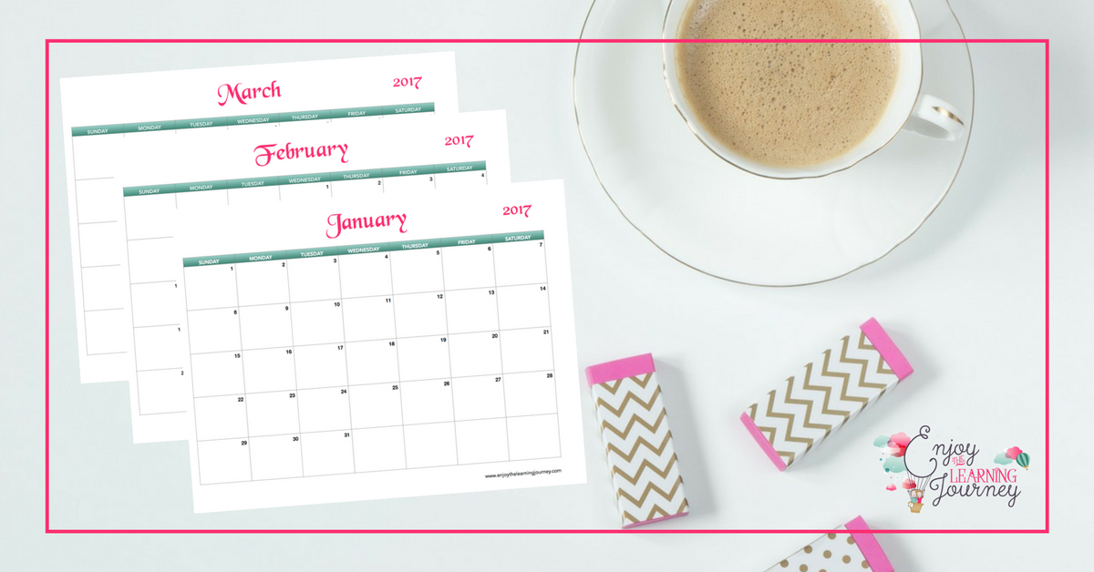 A perfect tool for organizing your schedule, tracking your goals and documenting important moments. Get your FREE 2017 printable calendar!