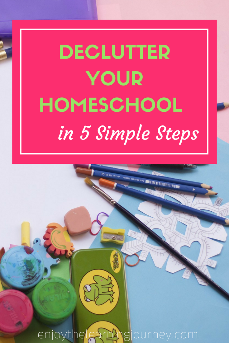 Declutter Your Homeschool in 5 Simple Steps