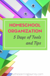 Homeschool Organization Tools and Tips for you minimize the stress and gain more peace and joy in your homeschool.