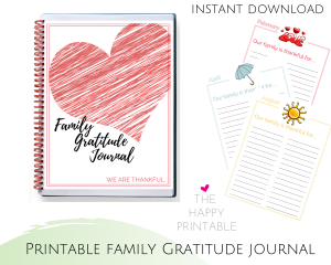 Include the whole family! This is a gratitude journal for kids and adults!